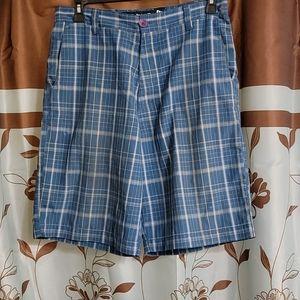 Billabong Mens Plaid Long Length Shorts